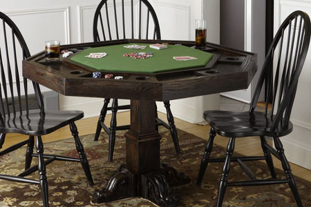 The Poker Dining Table Combo Is Ideal Because You Dont Have To A Dedicated Game Room