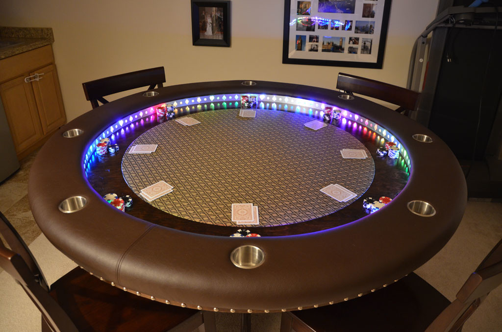 This Gorgeous Poker Table Was Posted On Reddit, Just Click Through The  Imgur Album Above To Look Even Closer To Appreciate The Amazing Detail That  Went Into ...